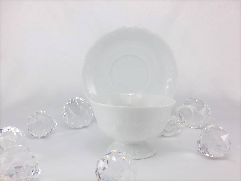 CRISTOFF -1831 Marie - Claire - white - porcelain cup and saucer