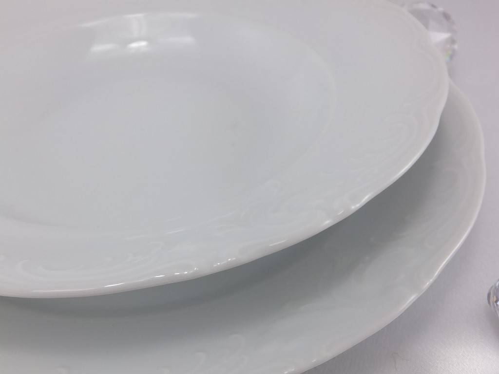 CRISTOFF -1831 Marie - Claire - white - porcelain plates in different sizes