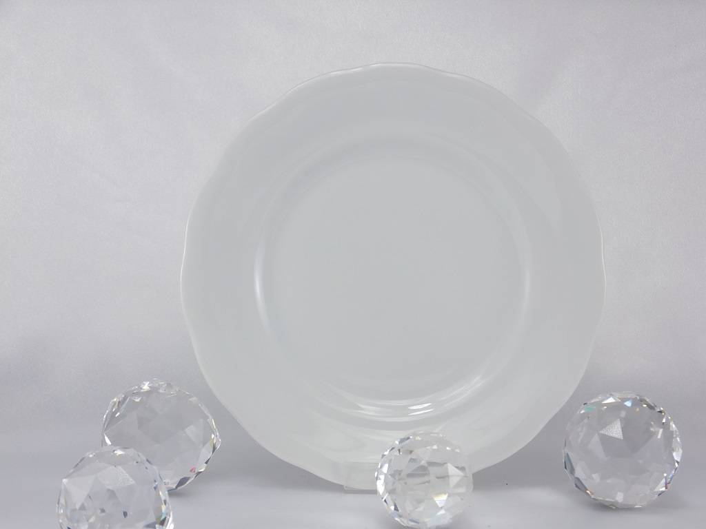 CRISTOFF -1831 Marie - Josee white - Porcelain plate
