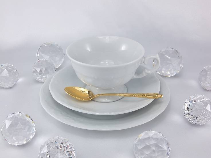 Marie - Claire - white porcelain line with white ornament