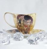 CARMANI - 1990 Gustav Klimt - Der Kuss   Kaffeetassen Set