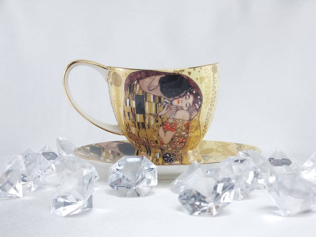 CARMANI - 1990 Gustav Klimt - The Kiss Coffee Cup Set