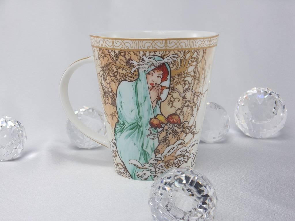 CARMANI - 1990 Alfons Mucha - The Four Seasons - Winter - Coffee Cup