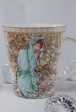 CARMANI - 1990 Alfons Mucha - The Four Seasons - Winter - Coffee Cup Set
