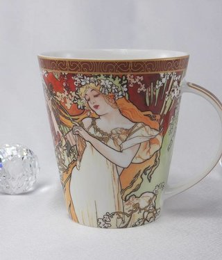 CARMANI - 1990 Alfons Mucha - Coffee Cup - The Four Seasons - Spring
