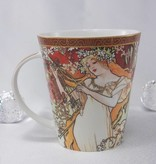 CARMANI - 1990 Alfons Mucha - The Four Seasons - Spring - Coffee Cup