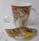 CARMANI - 1990 Alfons Mucha - The Four Seasons - Frühling - Kaffeetasse