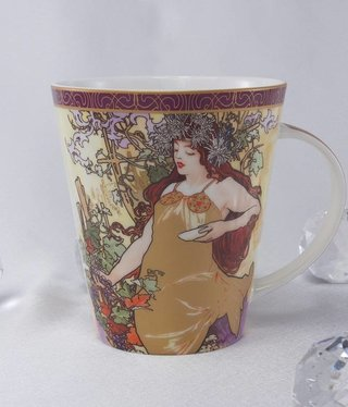 CARMANI - 1990 Alfons Mucha - Coffee Cup - The Four Seasons Fall