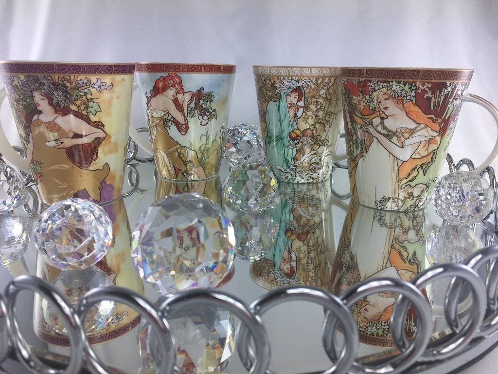 CARMANI - 1990 Alfons Mucha - The Four Seasons - Herbst - Kaffeetasse