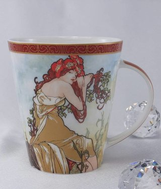 CARMANI - 1990 Alfons Mucha - Coffee Cup - The Four Seasons - Summer