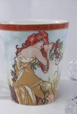 CARMANI - 1990 Alfons Mucha - The Four Seasons - Summer - Coffee Cup Set