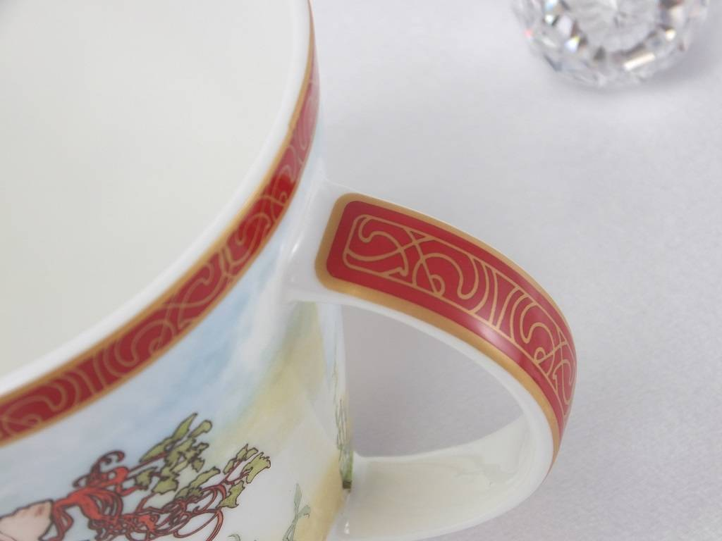 CARMANI - 1990 Alfons Mucha - The Four Seasons - Sommer  - Kaffeetasse  Set