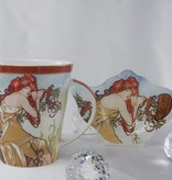 CARMANI - 1990 Alfons Mucha - The Four Seasons - Sommer  - Kaffeetasse