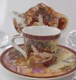 CARMANI - 1990 Alfons Mucha - The Four Season - Espresso Cups Set - Autumn / Spring
