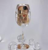 CARMANI - 1990 Gustav Klimt - The Kiss - Wine glass in Geschenktube