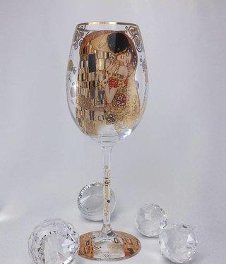 CARMANI - 1990 Gustav Klimt -Weinglas - Der Kuss