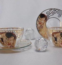 CARMANI - 1990 Gustav Klimt The Kiss cappuccino cups