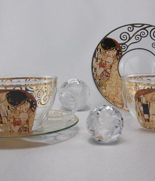 CARMANI - 1990 Gustav Klimt The kiss cappuccino cups