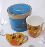 CARMANI - 1990 Vincent van Gogh - Sunflowers - Coffee cup Vanessa incl. Gift box