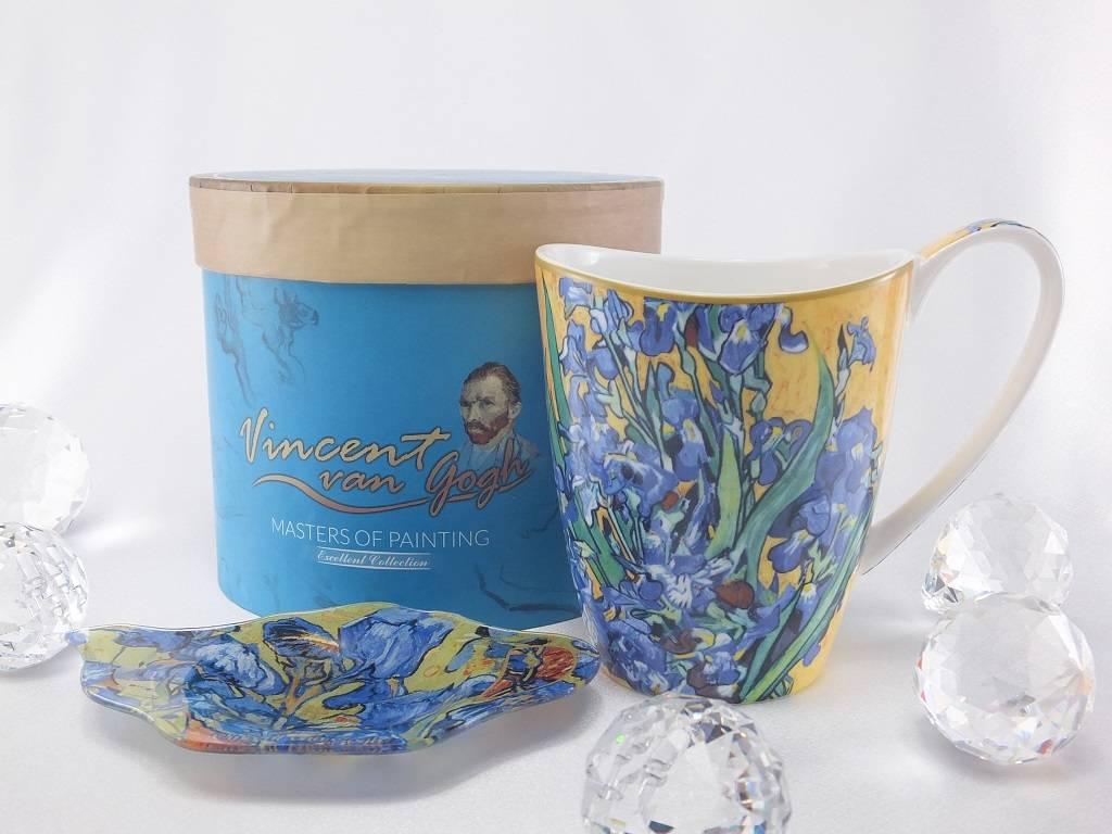 CARMANI - 1990 Vincent van Gogh - Schwertlilien - Kaffeetasse Vanessa in Geschenkbox