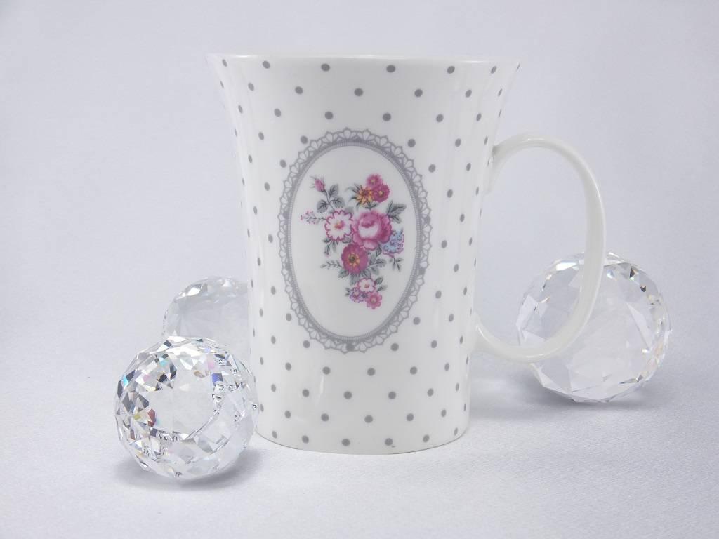 Dallas -stylish porcelain coffee cup white
