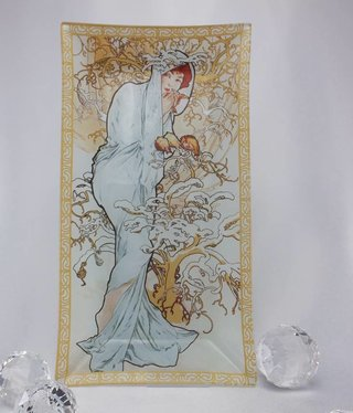 CARMANI - 1990 Alfons Mucha -  Glasteller - Winter