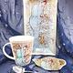 CARMANI - 1990 Alfons Mucha - Glasteller - The Four Seasons - Winter in Geschenkbox