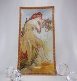 CARMANI - 1990 Alfons Mucha - Glass Plate - The Four Seasons - Summer