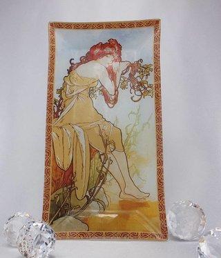 CARMANI - 1990 Alfons Mucha -  Glasteller - Sommer