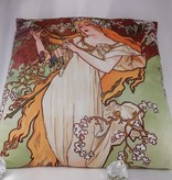 CARMANI - 1990 Alfons Mucha - Kissen - The Four Seasons - Frühling