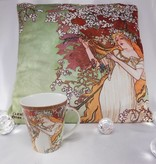CARMANI - 1990 Alfons Mucha - Cushion - The Four Seasons - Spring