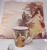 CARMANI - 1990 Alfons Mucha Kissen - The Four Seasons - Herbst