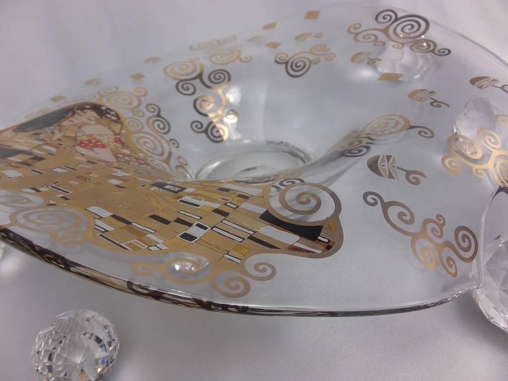 CARMANI - 1990 Gustav Klimt - Der Kuss - Dekorationsschale / Glasschale