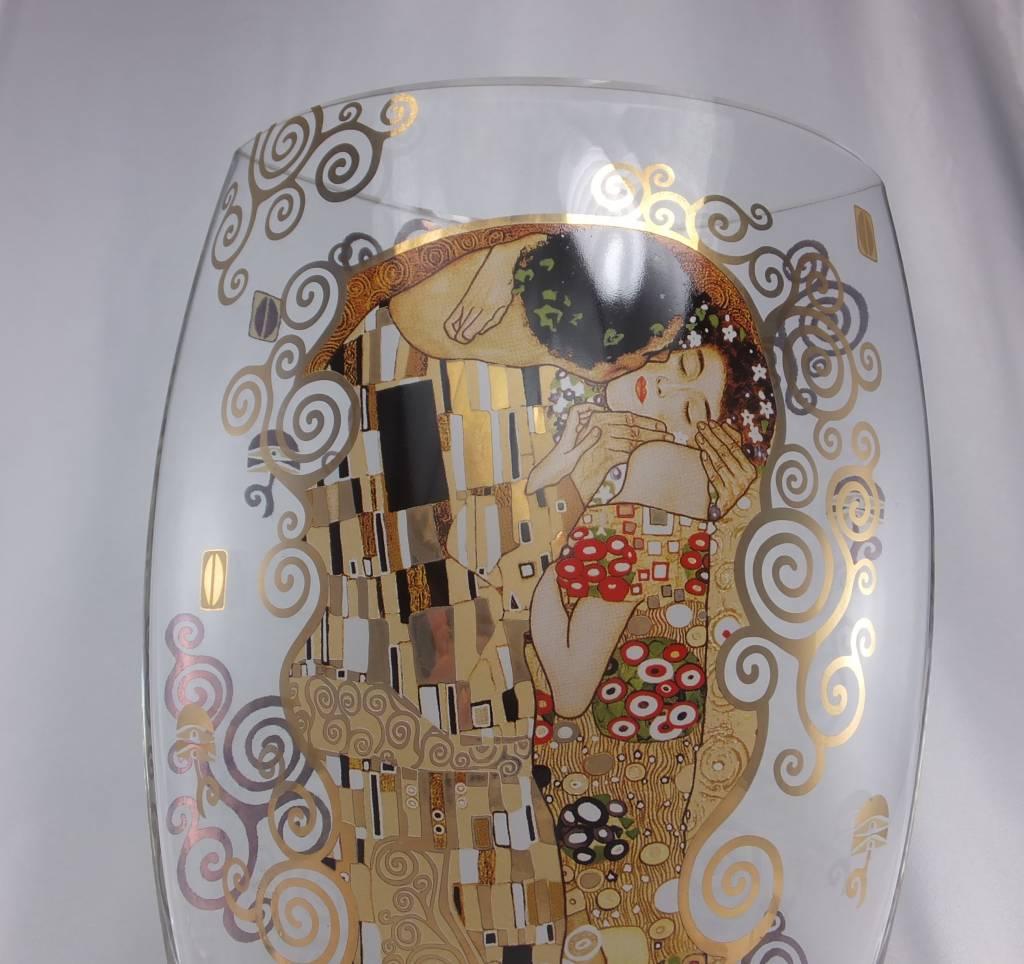 CARMANI - 1990 Gustav Klimt - Der Kuss - Vase  II aus Glas