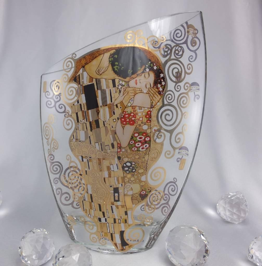 CARMANI - 1990 Gustav Klimt - The Kiss - glass vase III