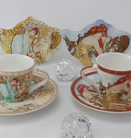 CARMANI - 1990 Alfons Mucha -The Four Seasons - Espresso cups