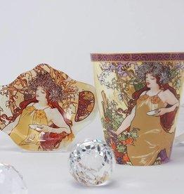 CARMANI - 1990 Alfons Mucha - Spring - coffee mug set -  autumn