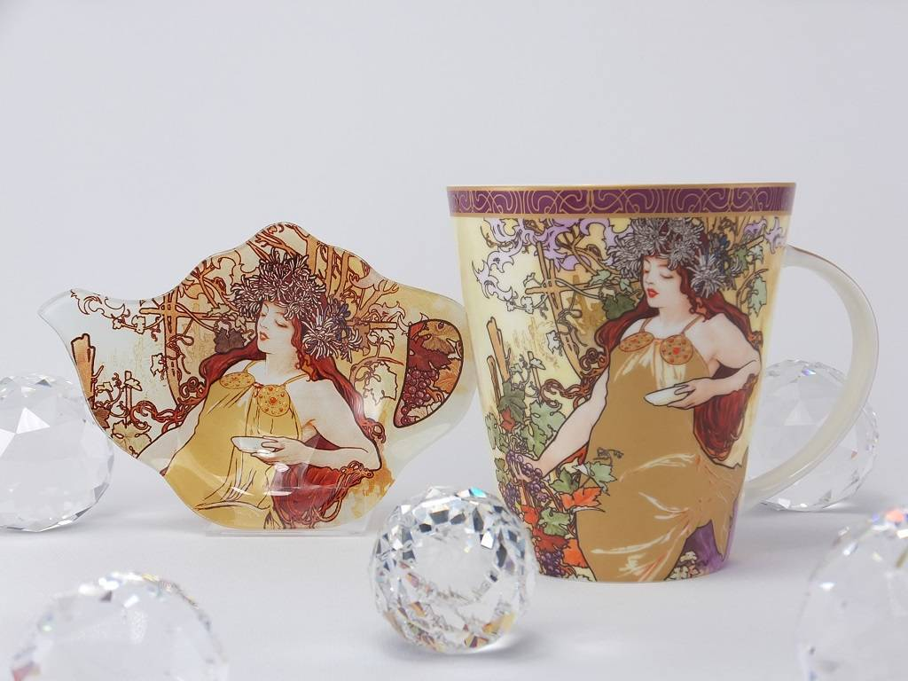CARMANI - 1990 Alfons Mucha - The Four Seasons - Autumn - Coffee Cup