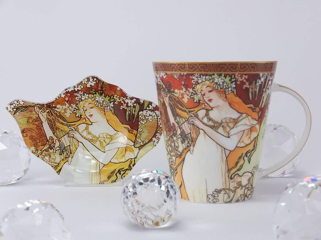 CARMANI - 1990 Alfons Mucha - The Fours Seasons - Spring- coffee mug