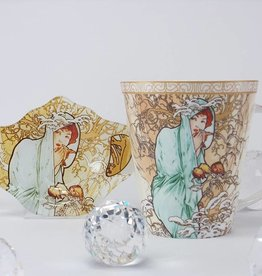 CARMANI - 1990 Alfons Mucha  - Tasse -  The Four Seasons -Winter