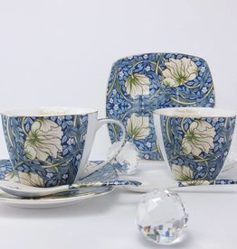 The Morris - Cappuccino cups in blue