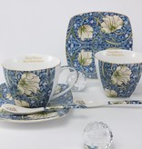 The Morris - Cappuccino Cups in Blue-Decorative Twin Cups in Porcelain