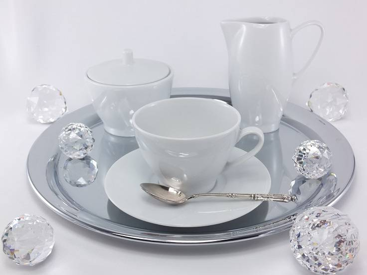 Marie Blanche porcelain collection in elegant white