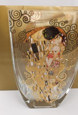CARMANI - 1990 Gustav Klimt - Der Kuss - Dekorationsvase / Glasvase