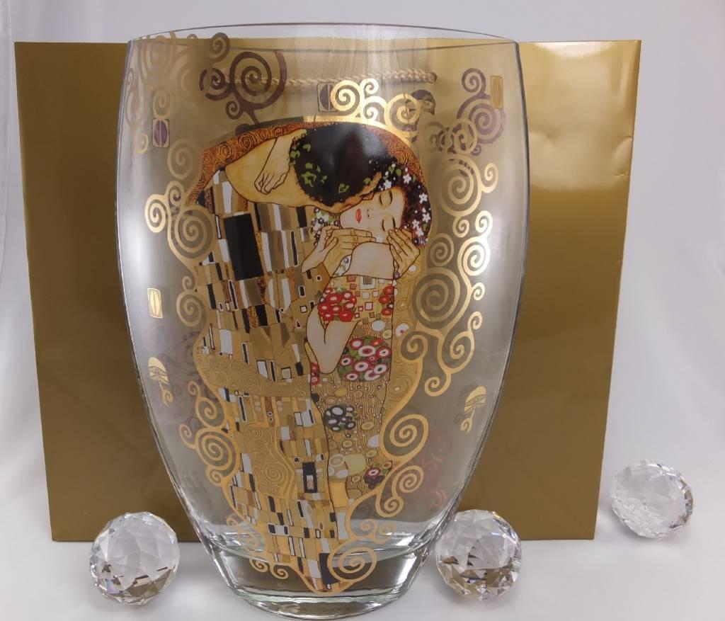CARMANI - 1990 Gustav Klimt - The Kiss - Vase II made of glass