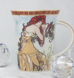CARMANI - 1990 Alfons Mucha -The Four Seasons -Kaffeetasse X  - Sommer