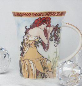 CARMANI - 1990 Alfons Mucha -The Four Seasons -Tasse X  - Sommer