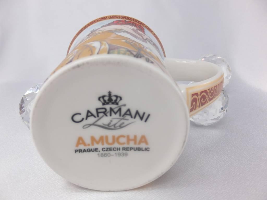 CARMANI - 1990 Alfons Mucha - The Four Seasons - Sommer -Kaffeetasse in Geschenkbox