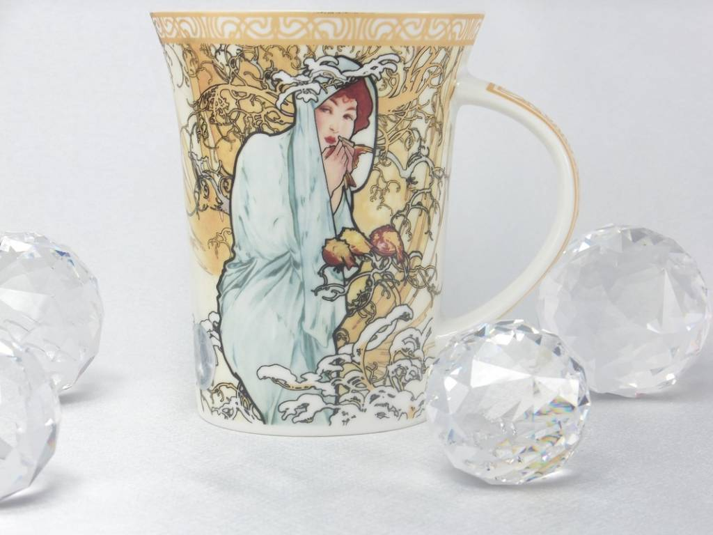 CARMANI - 1990 Alfons Mucha - The Four Seasons - Winter - Coffee cup in a gift box