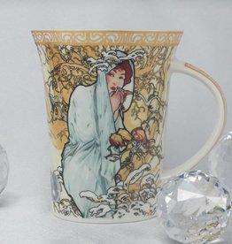 CARMANI - 1990 Alfons Mucha -The Four Seasons -Kaffeetasse X  - Winter